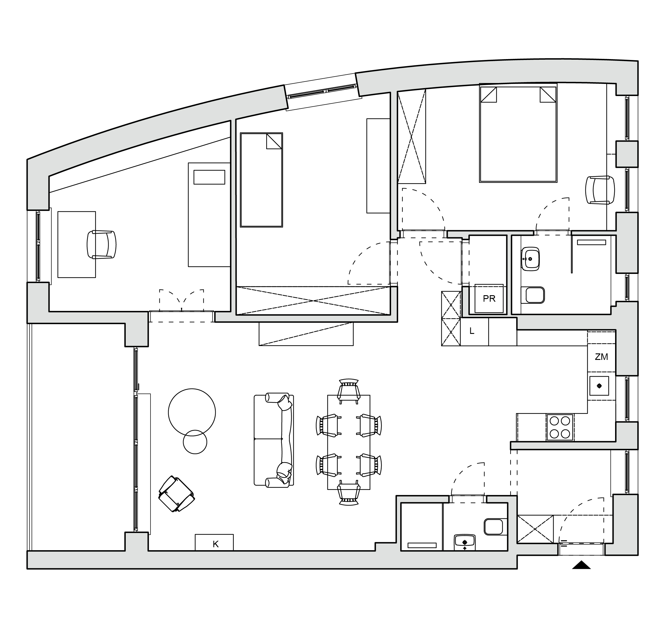 Floor plan after redecorating